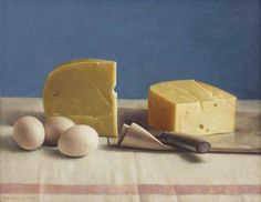Still life with cheese and eggs by HenkHelmantel is available at Made in Holland - artnet