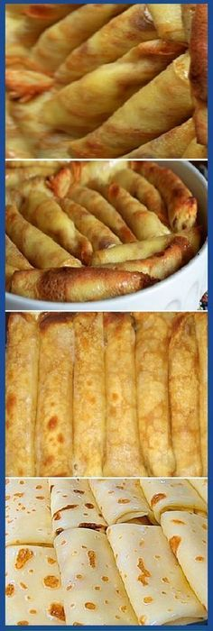 These crepes literally melt in your mouth. - Food and drinks - Mexican Food Recipes, Sweet Recipes, Crepes And Waffles, Good Food, Yummy Food, Salty Foods, Crepe Recipes, Snacks, Tapas