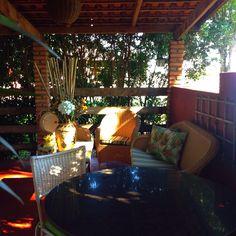 In a terrace