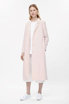 Long coat with side slits