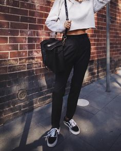 andicsinger Cigarette pants ✔️ // @leemathewsau pants, #vans on my feet & #mansurgavriel