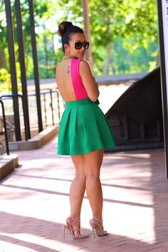 DIY color block dress | Color-Block Therapy by KT