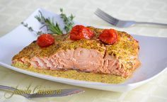 Somon la cuptor - reteta video Meatloaf, Healthy Recipes, Healthy Food, Beef, Cooking, Kitchens, Healthy Foods, Meat, Kitchen