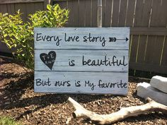 Every Love Story is Beautiful Reclaimed wood by HillcraftDecor
