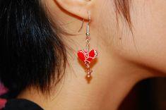 Great Tutorial for origami heart earrings!