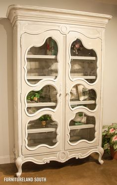 Habersham Camille Armoire With Seeded Glass Doors