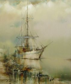 Boat (and many other beautiful suave paintings)