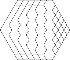 seems like hexagons can morph into squares, like this.  Hillbilly Handiworks: The Big 4 0