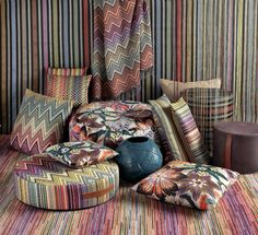 Passiflora Giant  full colour collection flowers and zigzag... MissoniHome