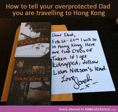 Overprotecting dad
