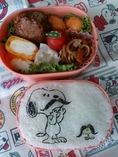 Twitter from @namimocchi 本日のお弁当。#obentoart #snoopy