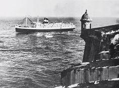 Vapor Puerto Rico de la Bull Line (1949-1954). Era una de las embarcaciones turísticas que la compañía utilizaba para unir los puertos de San Juan y Nueva York. El Puerto Rico era una de las embarcaciones turísticas que la compañía Bull Line utilizaba para unir los puertos de San Juan y Nueva York.