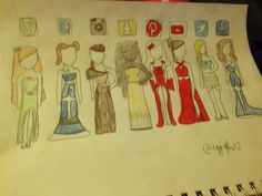 Social media dresses(credit to @mettatontrash ) EDIT- Damnnnn there's like 400 reposts thnxxx-- IZZI IS FAMOUS HELL YEAH
