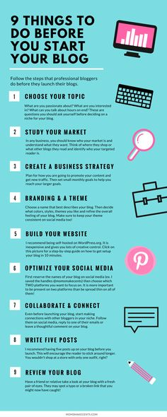 Thinking about starting a blog? Here are 10 things you need to do first!   blogging tips   blogging advice   start a blog  