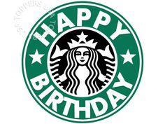 EDIBLE Starbucks Logo Cake Topper Wafer Paper Sheet by ToppersUSA
