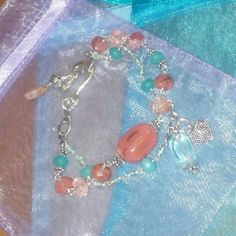 Selling this Baila Luna Strawberry Sherbet Bracelet in my Poshmark closet! My username is: mysticcreations. #shopmycloset #poshmark #fashion #shopping #style #forsale #Silver Stars #Jewelry