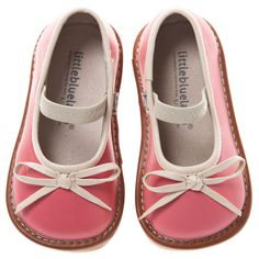Little Blue Lamb Pink Bow Leather Squeaky Shoes Baby Girls 6 to 10 New in Box | eBay