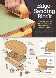 Edge Sanding Slock - Sanding Tips, Jigs and Techniques   WoodArchivist.com