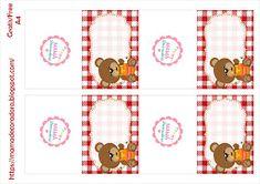 Mamá Decoradora: Kit Imprimible Oso Picnic Digital Invitations, Invitation Cards, Cute Stuff