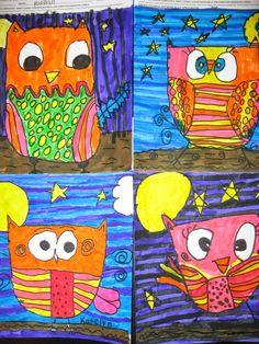 Jamestown Elementary Art Blog: September 2014 Grade 1 Art, First Grade Art, First Art, Grade 2, Animal Art Projects, Fall Art Projects, Square One Art, Jamestown Elementary, September Art