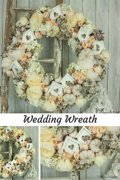 Decomagia Hobby Show - Maja Zagorska - DIY wedding wreath in shabby colors. I used artificial flowers that look like real from Art & Physical Collection and I made an everlasting wreath! Diy Wedding Wreath, Artificial Flowers, Burlap Wreath, Floral Wreath, Shabby, Natural, Colors, Inspiration, Collection