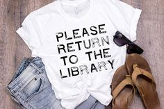 Please Return to the Library Shirt Librarian Shirt Librarian Gift for Book Lover Shirt Library Stamp Bibliophile Bookworm Book Worm Bookish by 25VintagePlace