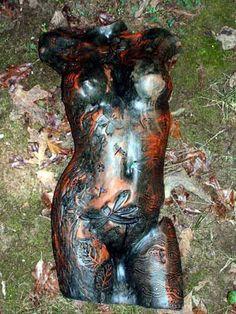 Gaia by Tammy Vitale hand/slab built clay torso, tammyvitale.com