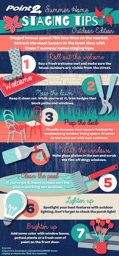 Summer Home Staging Tips. More #insidertips #stage2sell omnihomestaging.com