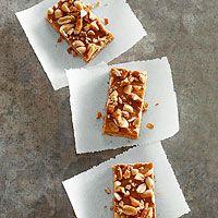 No-Bake Butterscotch-Pretzel Bars Recipe (or switch butterscotch to chocolate?; also serving idea - card stock)