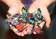shrink plastic butterflies