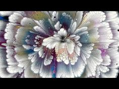 (475) From CIRCLES to FLOWER ~ EASY pour for BEGINNERS ~ Reverse flower ...