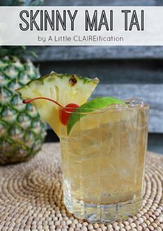 Skinny Mai Tai Recipe by ALittleClaireification.com #ad #SweetNLowStars
