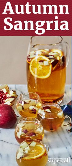 This seasonal Sangria is just what you need to ease you out of the hot days of summer and into cozy fall nights. Made with a base of sweet-tart Moscato, spicy applejack and an aromatic cocktail syrup infused with whole cloves, it harnesses a banquet of fresh autumn produce, adding fresh pears and apples into the mix. Tart and piquant, it's the perfect pitcherful to whip up after a day of jumping in leaves—or even an impressive cocktail for a Thanksgiving feast.