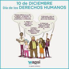 Hoy, 10 de diciembre, es el Día de los Derechos Humanos. Un día para recordar (y reclamar) que el respeto a los derechos básicos es el ideal común al que deben aspirar todas las naciones y pueblos del mundo. Este año nos sumanos a la campaña de la ONU bajo el lema 'Derechos Humanos 365'. Desde Wapsi.org insistimos en la necesidad de promover la defensa de estos derechos, iguales e inalienables para todas y cada una de las personas. #DíaDerechosHumanos  Wapsi: Google+