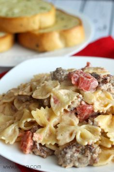 Bowtie pasta with Italian sausage. Easy dinner recipe.