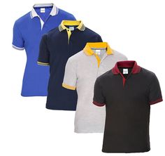 Baremoda Men s Polo T Shirt Black Navy Grey And Blue Combo Pack of 4   Amazon.in  Clothing   Accessories 9a3dde77c19