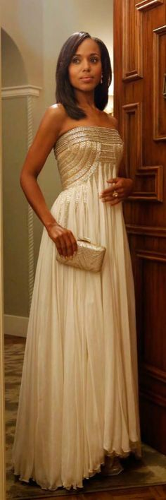 Kerry Washington In Jean Fares Couture..  Beautiful Reception dress for a wedding.