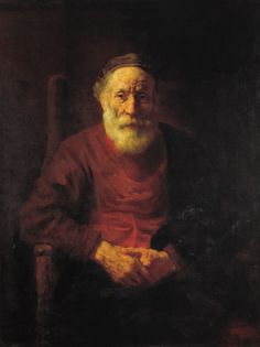 Rembrandt Harmenszoon van Rijn - An Old Man in Red - Rembrandt - Wikipedia, the…