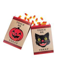 Look what I found on #zulily! Black Cat & Pumpkin Favor Bag - Set of 24 #zulilyfinds