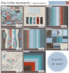 The Little Moments Bundle. Digital Scrapbook Product at Gotta Pixel. www.gottapixel.net/