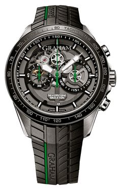 Graham Watch Silverstone RS Skeleton Green Limited Edition #bezel-fixed…