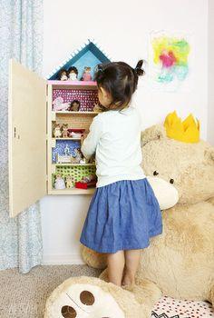 alisaburke: dollhouse cabinet