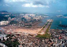 Kai Tak International Airport (HKG) Hong Kong. Airport closed! (google.image) 11.16 New #10G