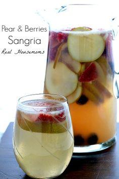 Pear and Berries Sangria | Real Housemoms
