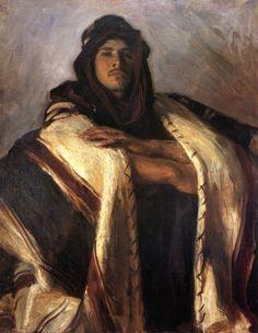John Singer Sargent, Jefe beduino, 1905-6. Óleo sobre lienzo, 71.1 x 55.9 cm, Colección particular