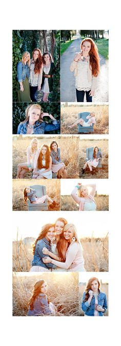 Senior pic ideas for daughter. Take some shots with her besties.
