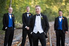 #wedding photography   groom & groomsmen in royal blue and bow ties   @haasweddings