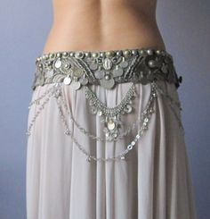Another interesting look that is way over budget!  Tribal Bellydance Belt Antique Look Beige and by DyinArtform, $250.00