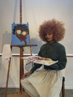 Beautiful Black Girl, Black Girl Art, Black Girl Magic, Black Girls, Art Girl, Beautiful Women, Art Hoe Aesthetic, Black Girl Aesthetic, Curly Hair Styles