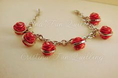 Bracelet with paper roses